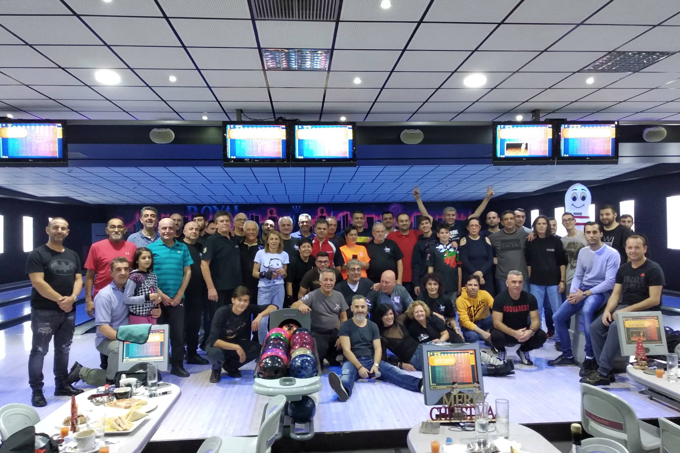 Christmas bowling party